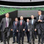 Президент ФИФА Джанни Инфантино и Владимир Путин посетили стадион ФК «Краснодар»