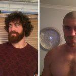 Мужчины сбривают бороду