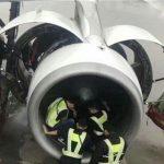 В Китае пожилая пассажирка набросала монет в турбину самолета