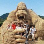 Удивительные соломенные скульптуры на фестивале в Японии