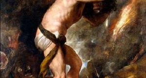 Тициано Вечеллио «Наказание Сизифа». (1547-1549).Размер картины 237 x 216 см, холст, масло.