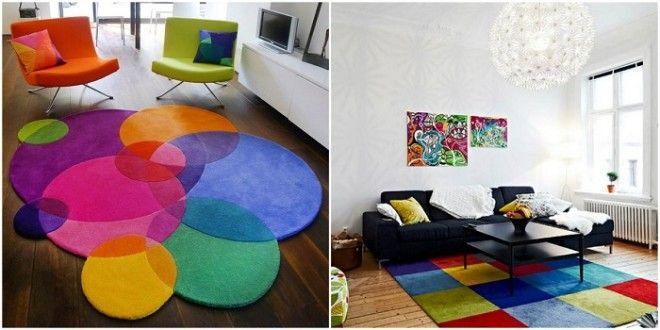 Такой ковер украсит любую комнату и придаст ярких и насыщенных цветов