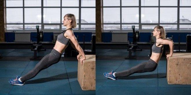 Домашние тренировки для начинающих: Обратные отжимания с прямыми ногами