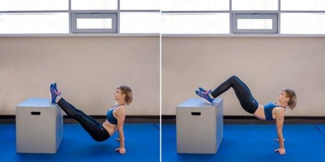Домашние тренировки для начинающих: Подъёмы таза с ногами на возвышении