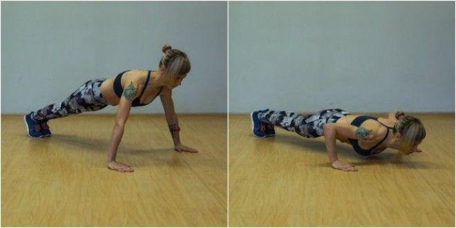 Программа домашних тренировок: Отжимания с широкой постановкой рук