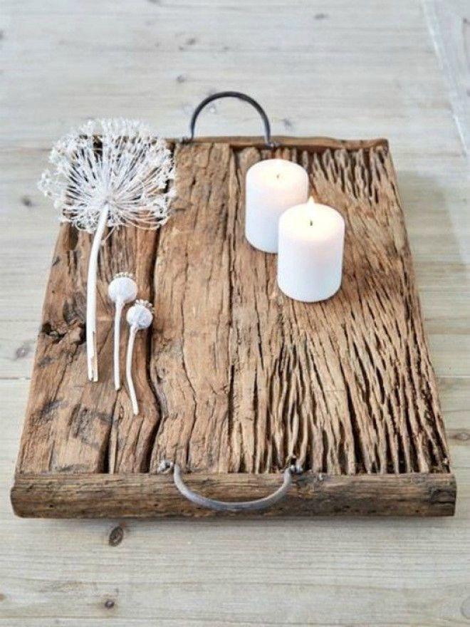 Стильный деревянный поднос