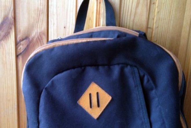 Кожаная нашивка на рюкзаке