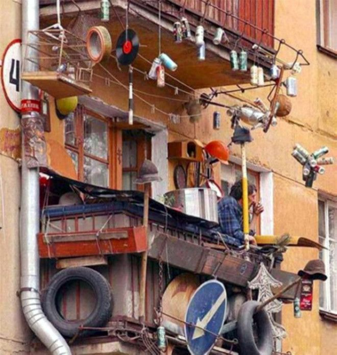 Балкон настоящего Плюшкина